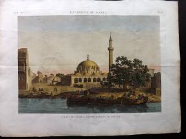 Description de l'Egypte C1820 HCol Print. Grand Mosquee de Boulaq. Cairo Egypt